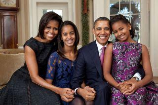 Pres. Obama & family